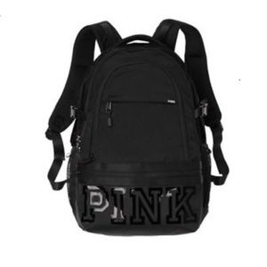 VS PINK campus gel black backpack full size